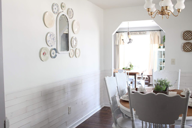 Nordic Ice Mist Wall Planks in dining room