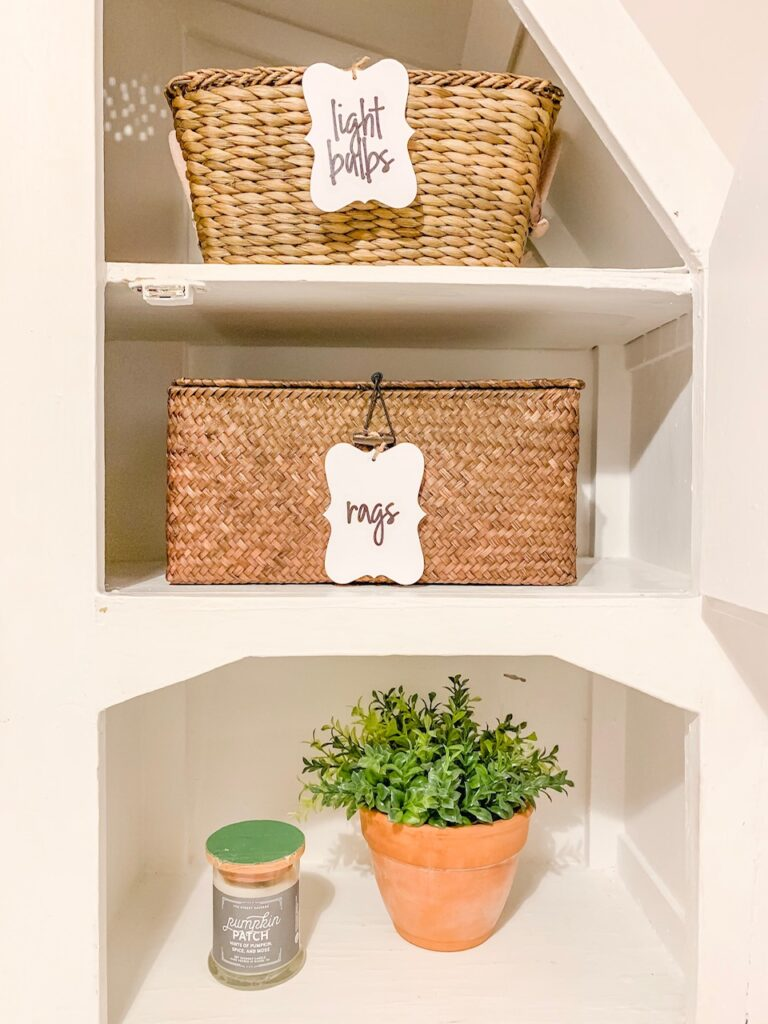 labeled baskets