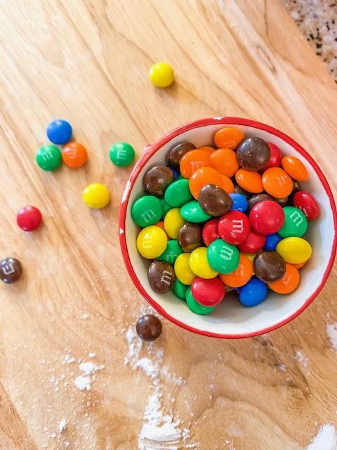 baking with m&ms