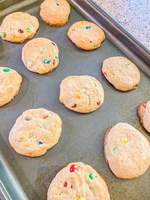 delicious m&m cookies