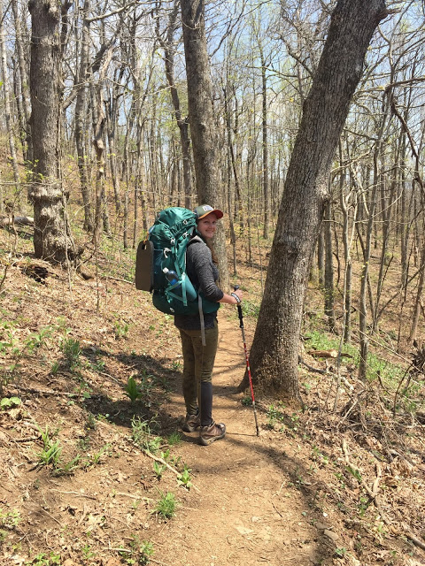 section hiker on the Appalachian Trail