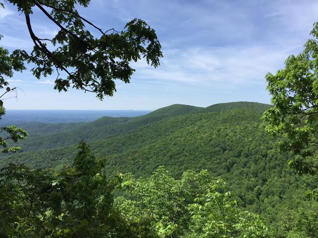 An overlook on the Appalachian Trail