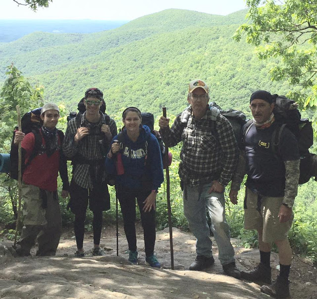 a group of hikers on their first Appalachian Trail section hike