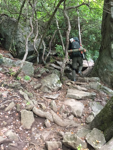 some of the difficult terrain on the Appalachian Trail in Georgia