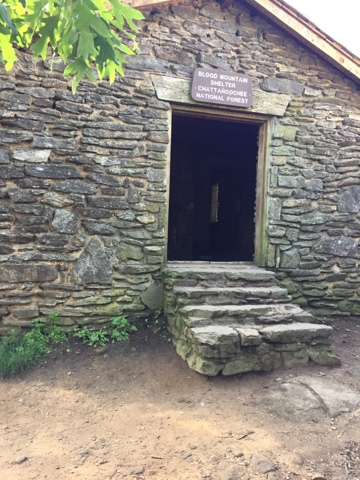 Blood Mountain shelter on the Appalachian Trail