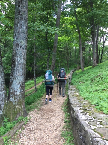 empty nesters spend their wedding anniversary section hiking the Appalachian Trail
