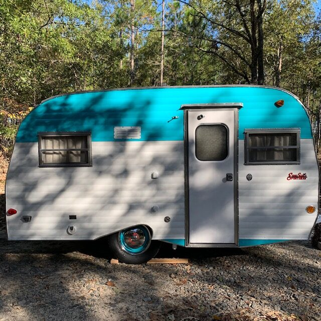 restored vintage scotty gaucho camper, restored camper, scotty gaucho camper, camper restoration