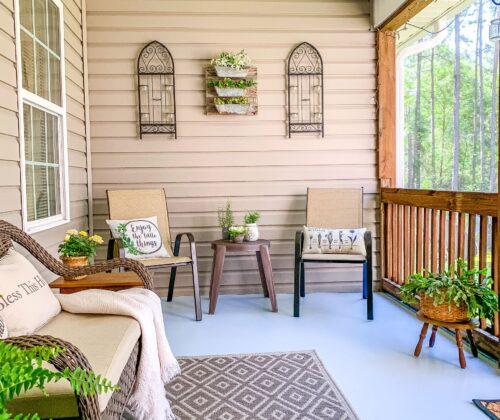 Summer Back Porch Refresh