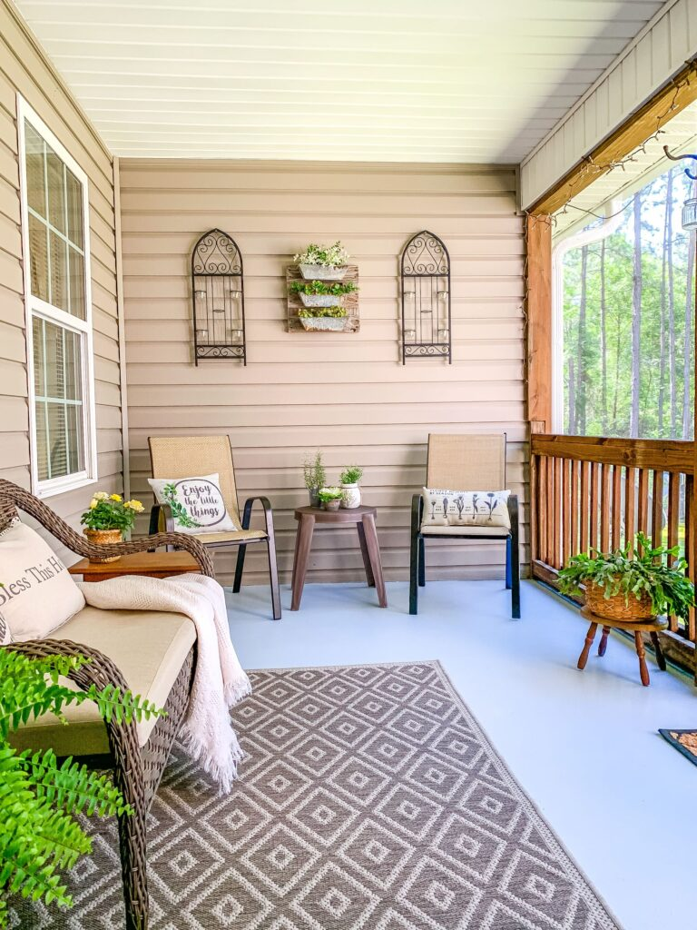Screened In Back Porch for southern living