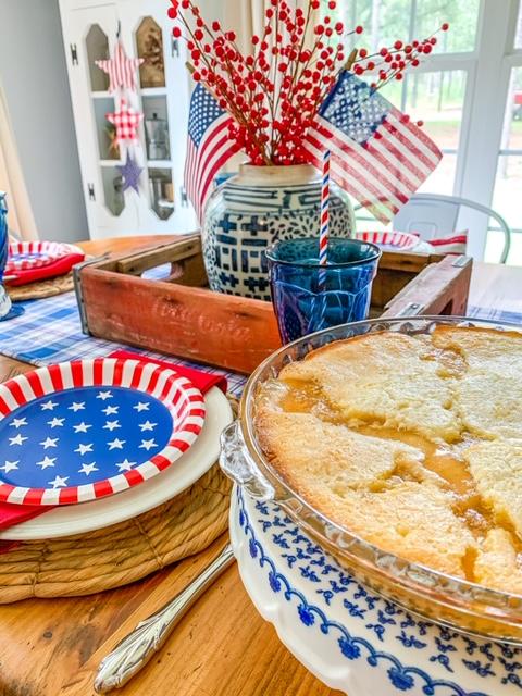 homemade apple cobbler dessert, homemade cobbler, apple cobbler, homemade dessert, family recipe for apple cobbler