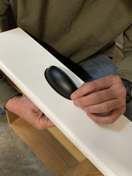 matte black drawer pull, how to install a new drawer pull