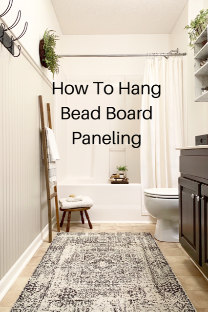 how to hang bead board paneling