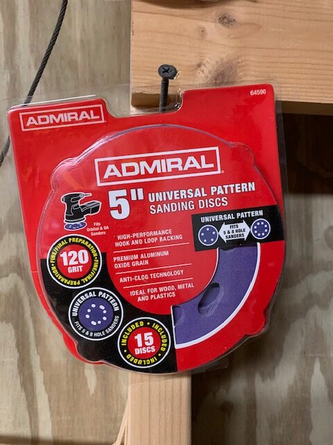 admiral sandpaper for a diy project