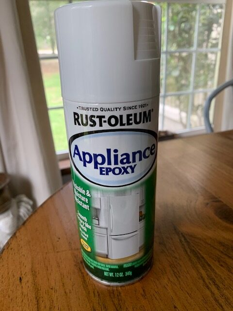 rust-oleum appliance epoxy for a diy project
