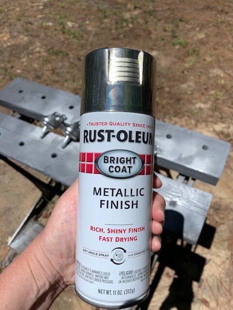rust-oleum bright coat metallic finish in chrome