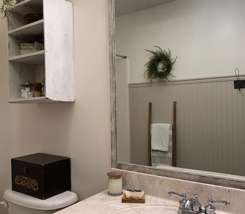 how to diy a bathroom mirror frame