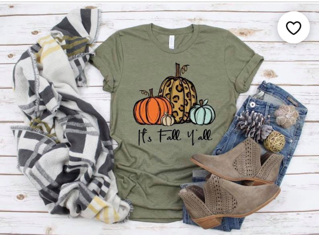 it's fall y'all t-shirt by wildflowers and dixie
