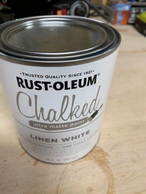 rustoleum chalk paint in linen white