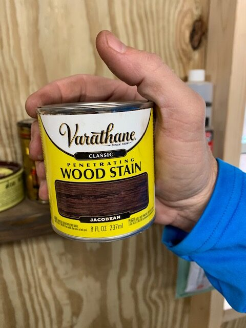varathan wood stain in jacobean