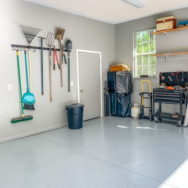 DIY garage organization project