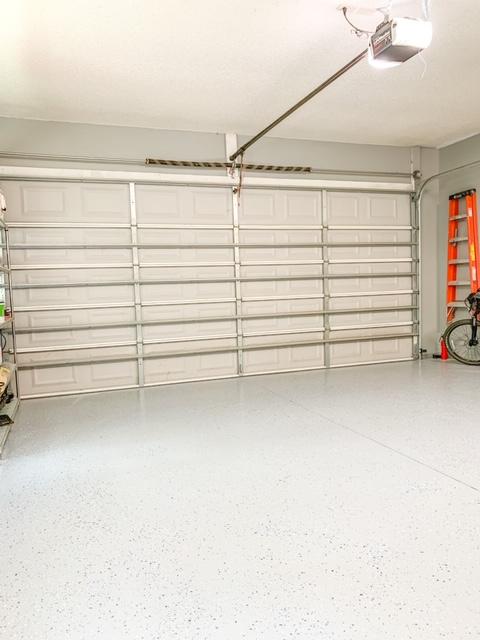 A reorganized garage