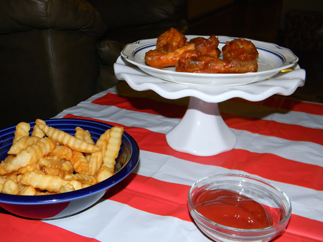 chicken wings election night food represent right/left wings