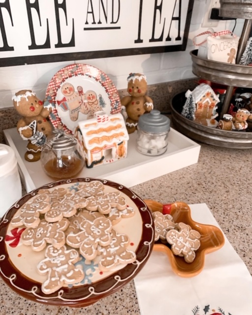 gingerbread themed coffee bar