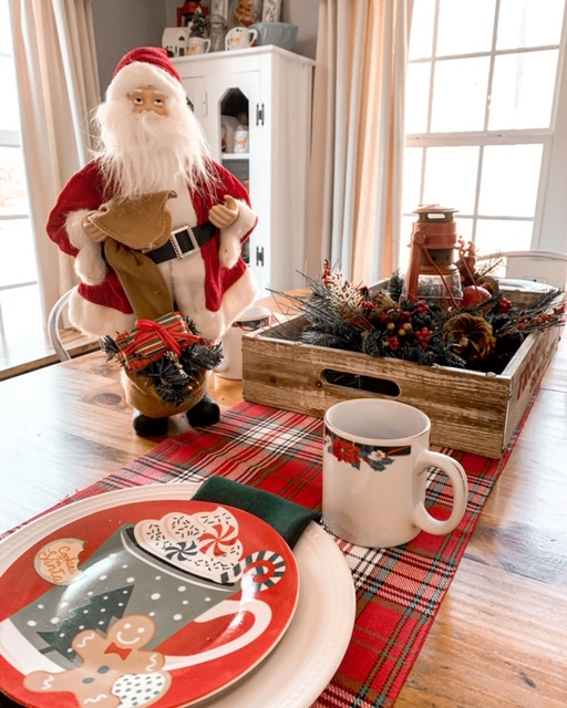 Santa Christmas table setting