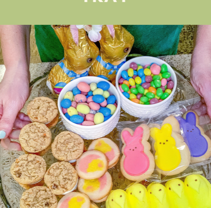 how to create an Easter dessert tray