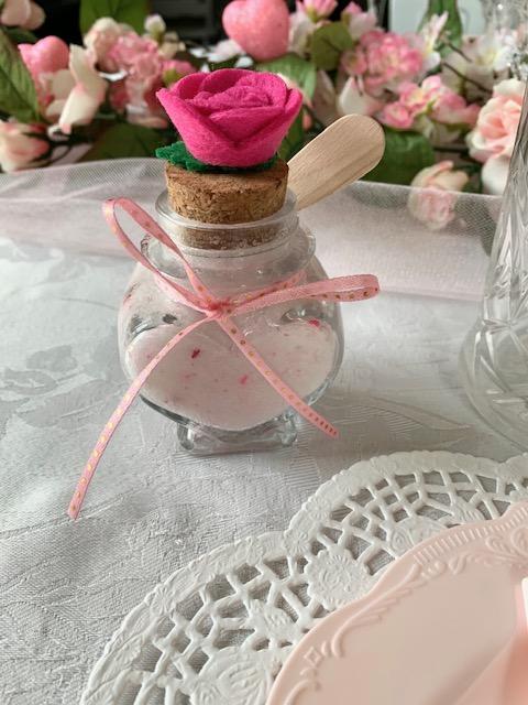 An easy DIY homemade sugar scrub made as a gift for Galentine's Day
