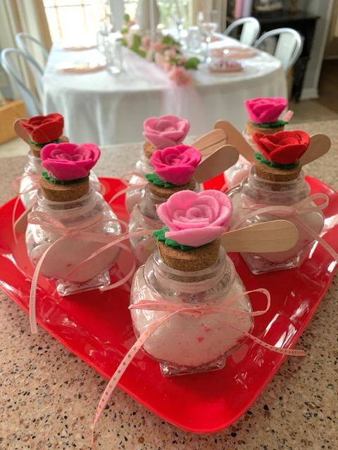 Galentine's Day homemade sugar scrub gifts