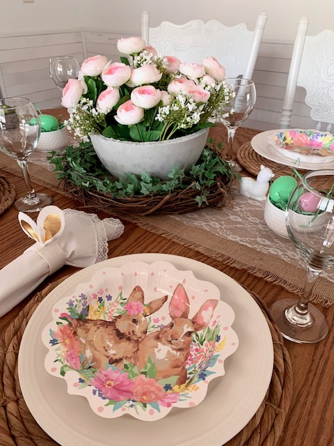 Pioneer Woman Easter Bunny paper places are perfect for a spring table setting