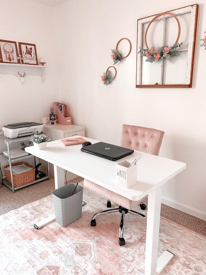 an ergonomic desk for a home office