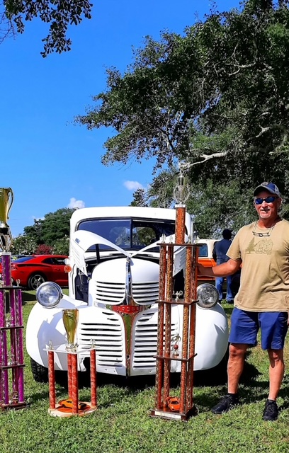 Couple wins awards at car show for diy restoration of vintage truck