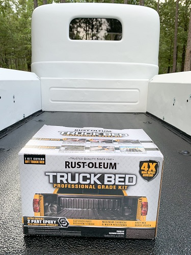 The Rust-Oleum Truck Bed Professional Kit is easy to use and an affordable option