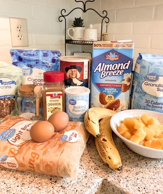 ingredients to bake hummingbird oatmeal