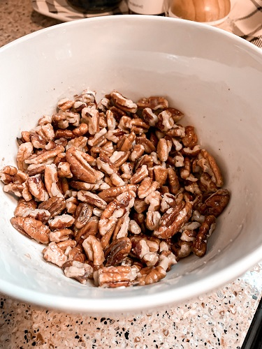 toasted pecans are good in baked oatmeal