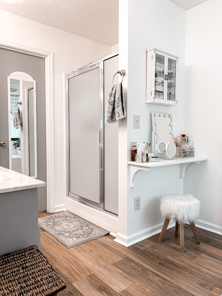 DIY makeup vanity for small space