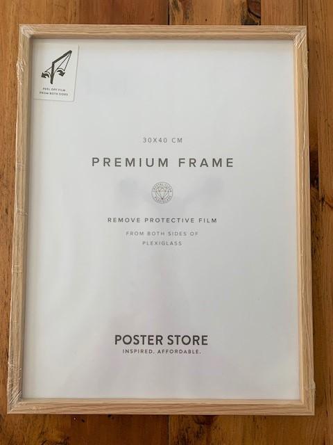 premium frame in oak wood